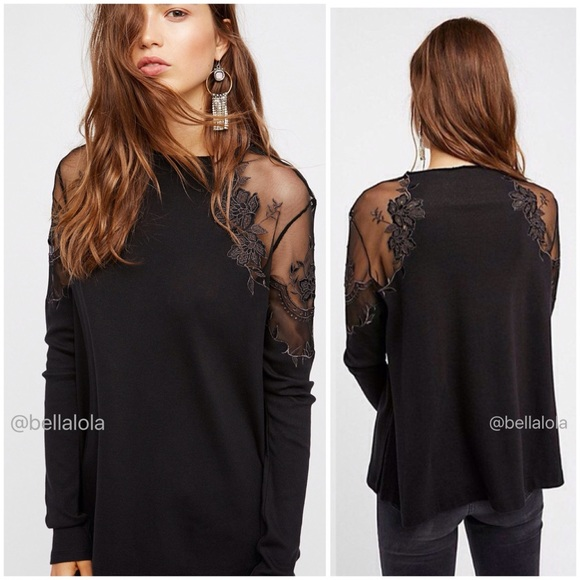 Free People Tops - 🆕Free People lace illusion top